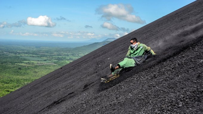 Extreme Sports - Volcano Boarding in Nicaragua