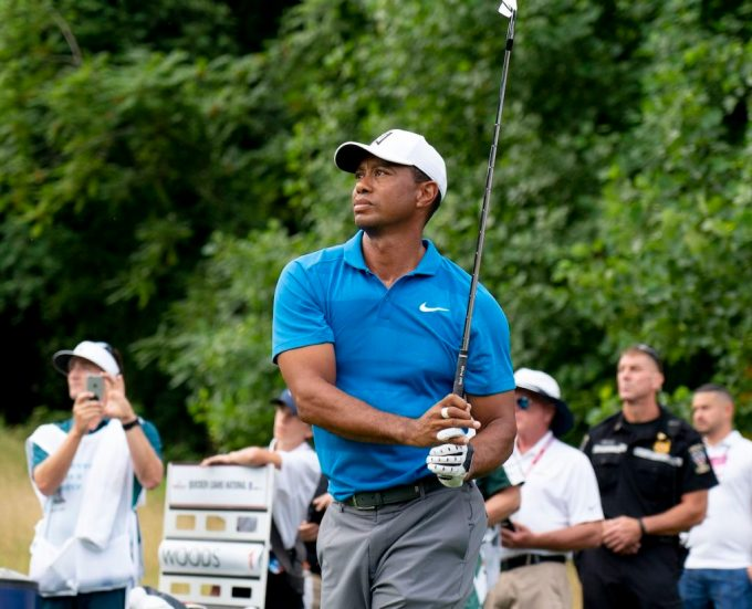 Professional Golfer Tiger Woods at the Quicken Loans National