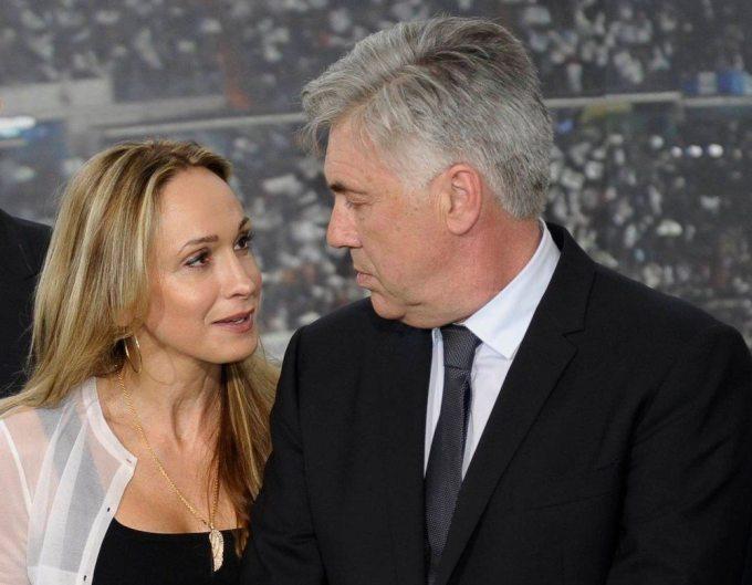 Photo of Carlo Ancelotti with his wife Mariann Barrena McClay