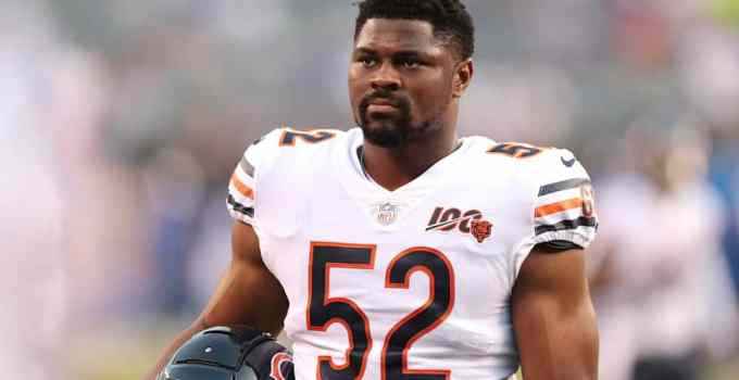 Photo of Khalil Mack with Chicago Bears
