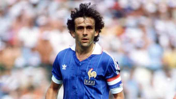 Photo of Michel Platini in 1982 - French Soccer Player