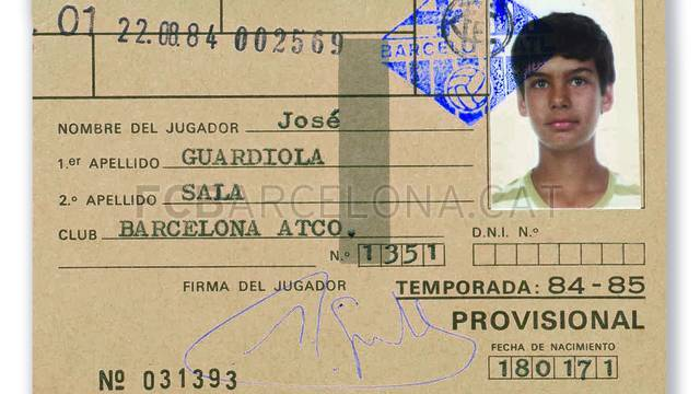 Pep Guardiola Childhood Photo