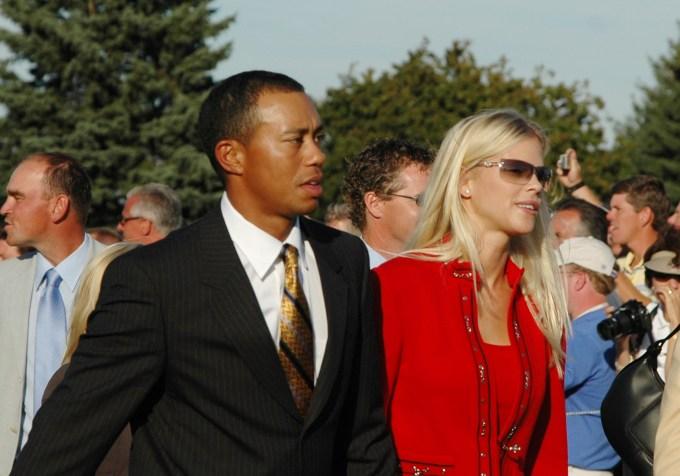 Tiger Woods and Elin Nordegren in 2004