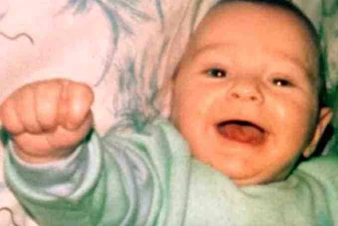 Childhood photo of Tyson Fury