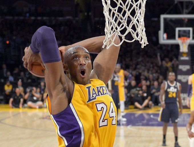 Kobe Bryant with the Los Angeles Lakers