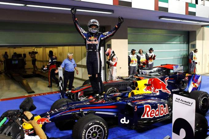 Sebastian Vettel with Red Bull