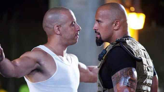 Photo of Dwayne Johnson and Vin Diesel