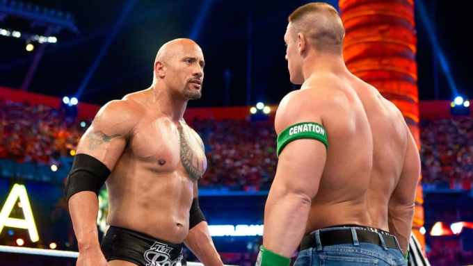 The Rock Vs John Cena - Wrestlemania 28