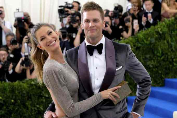 Tom Brady with his wife, Gisele Bündchen