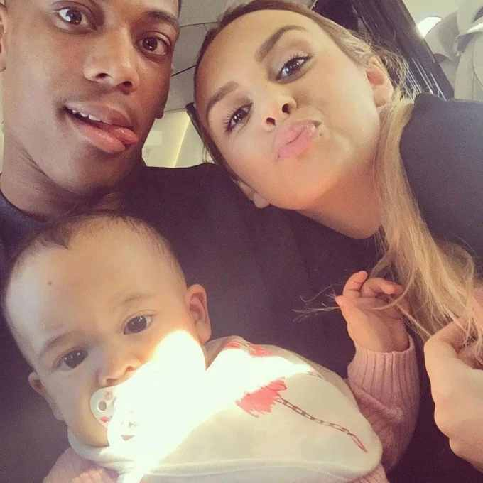 Anthony Martial with daughter Peyton and ex-wife Samantha Jacquelinet