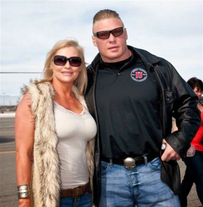 Brock Lesnar with his wife Sable