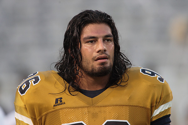 Joe Anoai with Georgia Tech Yellow Jacket Football Team