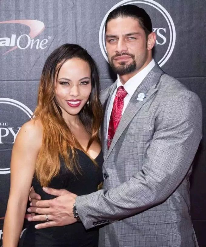 Roman Reigns with his wife Galina Joelle Becker