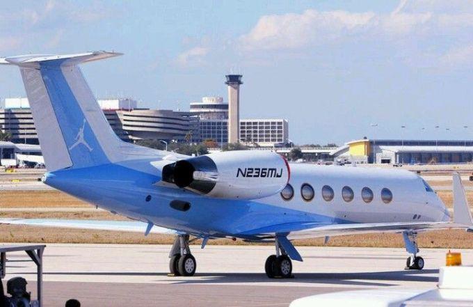Michael Jordan's Private Jet N236MJ