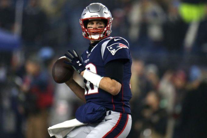 Tom Brady with the Patriots