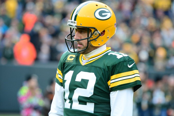 Aaron Rodgers with the Packers