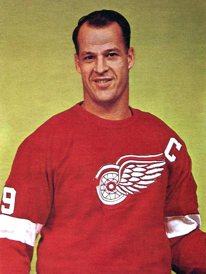 Detroit Red Wings' Gordie Howe in the 1960s
