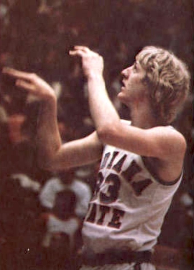 Larry Bird at Indiana State University Sycamores