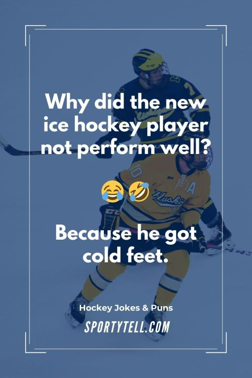 Why did the new ice hockey player not perform well?