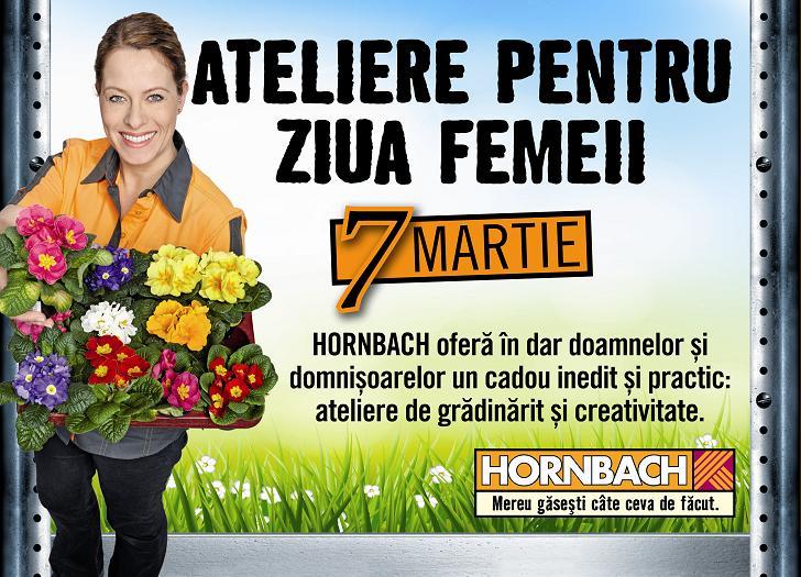 Ateliere speciale pentru Ziua Femeii, pe 7 martie, in toate magazinele Hornbach