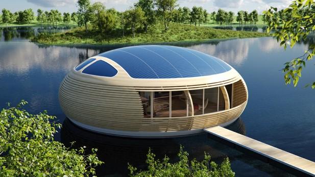 WaterNest – casa plutitoare din materiale reciclate