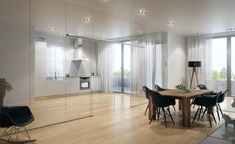 O soluţie elegantă pentru interioare fluide: uşi culisante cu sisteme de rulare minimaliste şi montaj versatil