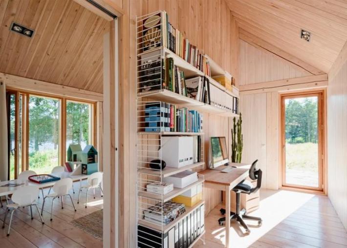 casa cu 2 dormitoare stil scandinav 4 birou