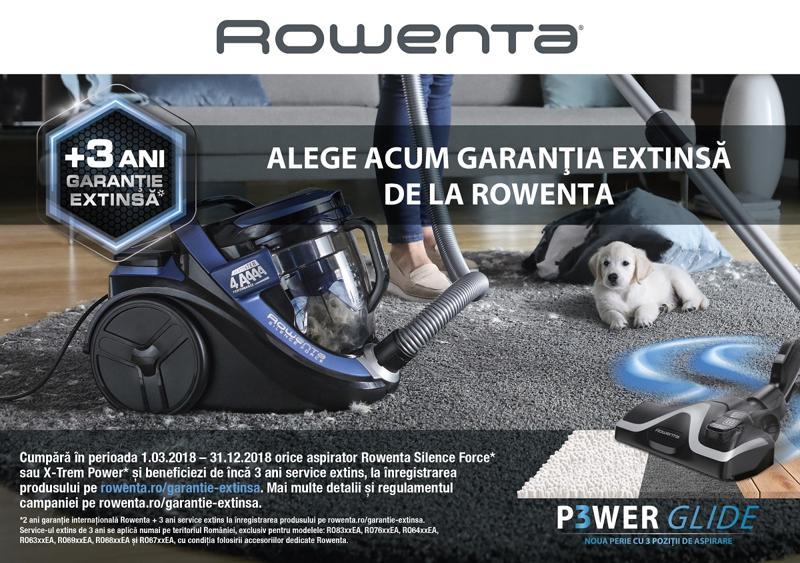 Extra-garanție la aspiratoarele Rowenta Silence Force