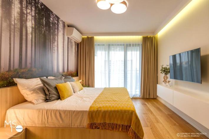 Miso Architects amenajare moderna apartament Bucuresti dormitor 3