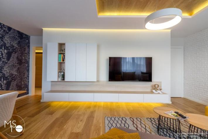 Miso Architects amenajare moderna apartament Bucuresti living5