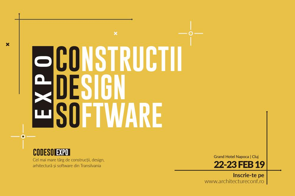 Construcții, design și software: prima ediție a târgului  EXPO CoDeSo are loc la Cluj-Napoca