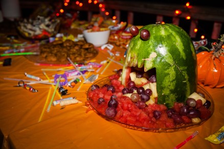 The Monster Melon rules the snack table.