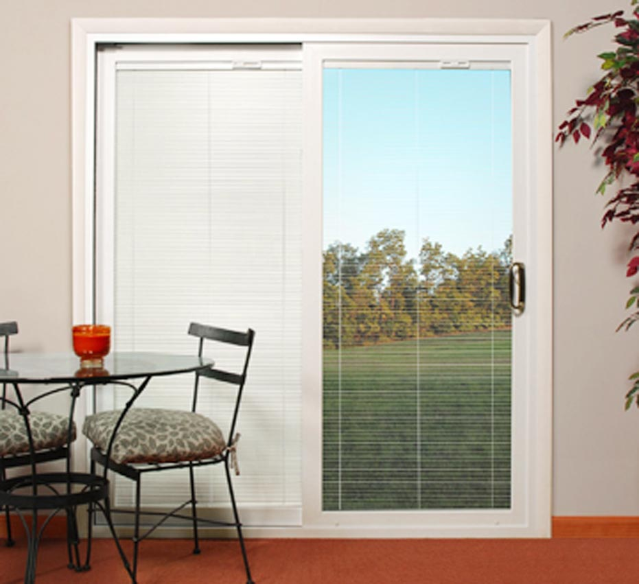 Delicieux Sliding Glass Patio Doors With Blinds