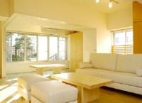 Bright Yellow Wall Living Room Painting Ideas : Spotlats