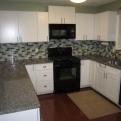 White Shaker Kitchen Cabinets Kohler Faucet Spotlats