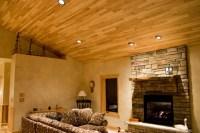 Wood paneled ceiling : Spotlats
