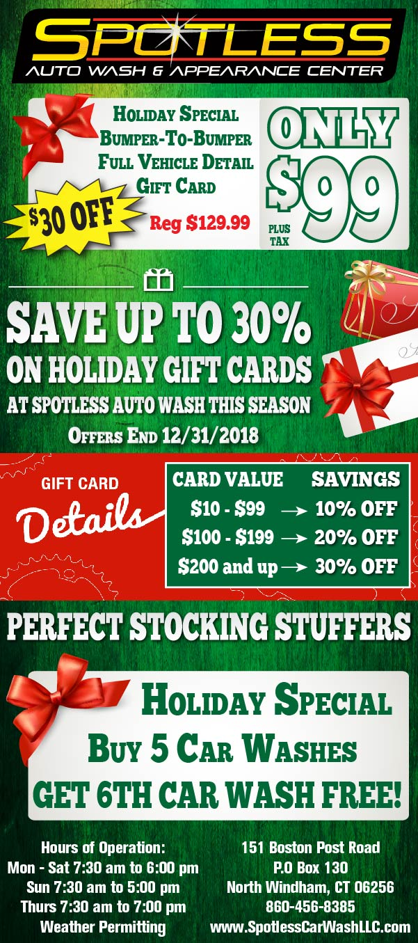 Spotless Auto Wash Gift Card