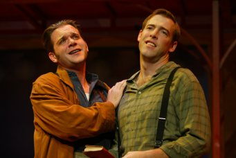"Ian as Proteus in ""Two Gents"" with Brian Hamman as Valentine. Photo by Carol Pratt."