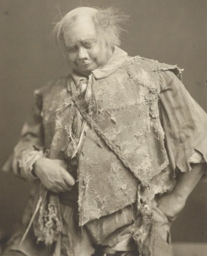 Rowland Buckstone in costume as the Gravedigger, late 19th or early 20th century.