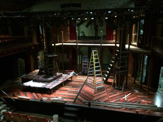 The set during load-in