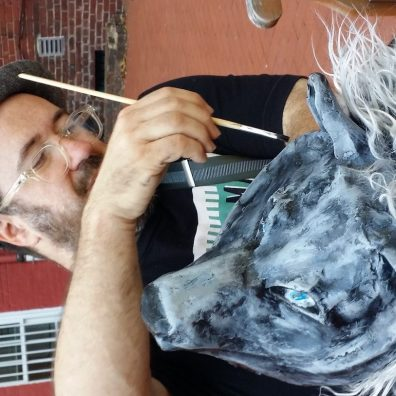 Cromie re-paints the Wolf mask