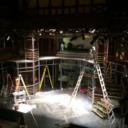 Transforming the Folger stage, Timon of Athens, 2017.