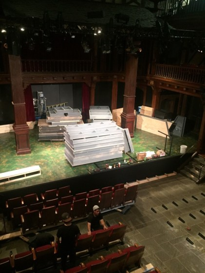 Load-in for Antony and Cleopatra.