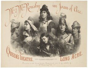 Mr. & Mrs. Rousby in Joan of Arc [by Tom Taylor] [graphic] / Grouped and lithographed by Maclure & Macdonald. Folger Shakespeare Library.