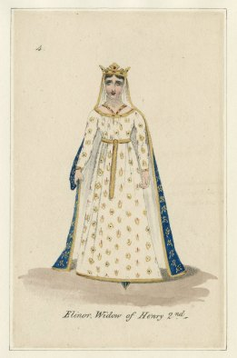 Eleanor, from costume design for King John, Published by John Miller, 1823. Folger Shakespeare Library.