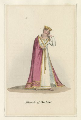 Blanche, from costume design for King John, Published by John Miller, 1823. Folger Shakespeare Library.