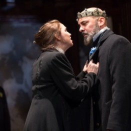 Constance (Holly Twyford) and Philip, King of France (Howard W. Overshown), King John, 2018. Photo by Teresa Wood.