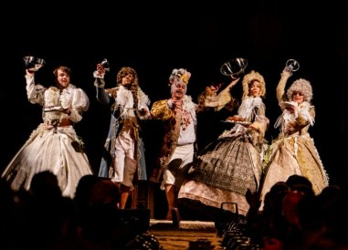 The company of Confection, Folger Theatre and Third Rail Projects, 2019. Photo: Brittany Diliberto.