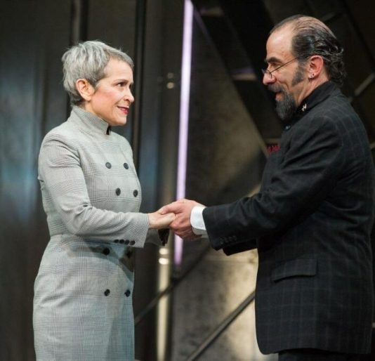 Worcester (Naomi Jacobson) and Northumberland (U. Jonathan Toppo). 1 Henry IV, Folger Theatre, 2019. Photo: C. Stanley Photography.