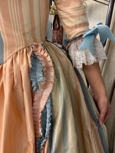 Constanze's party dress. Amadeus, Folger Theatre, 2019. Costume Design and Photo: Mariah Anzaldo Hale.